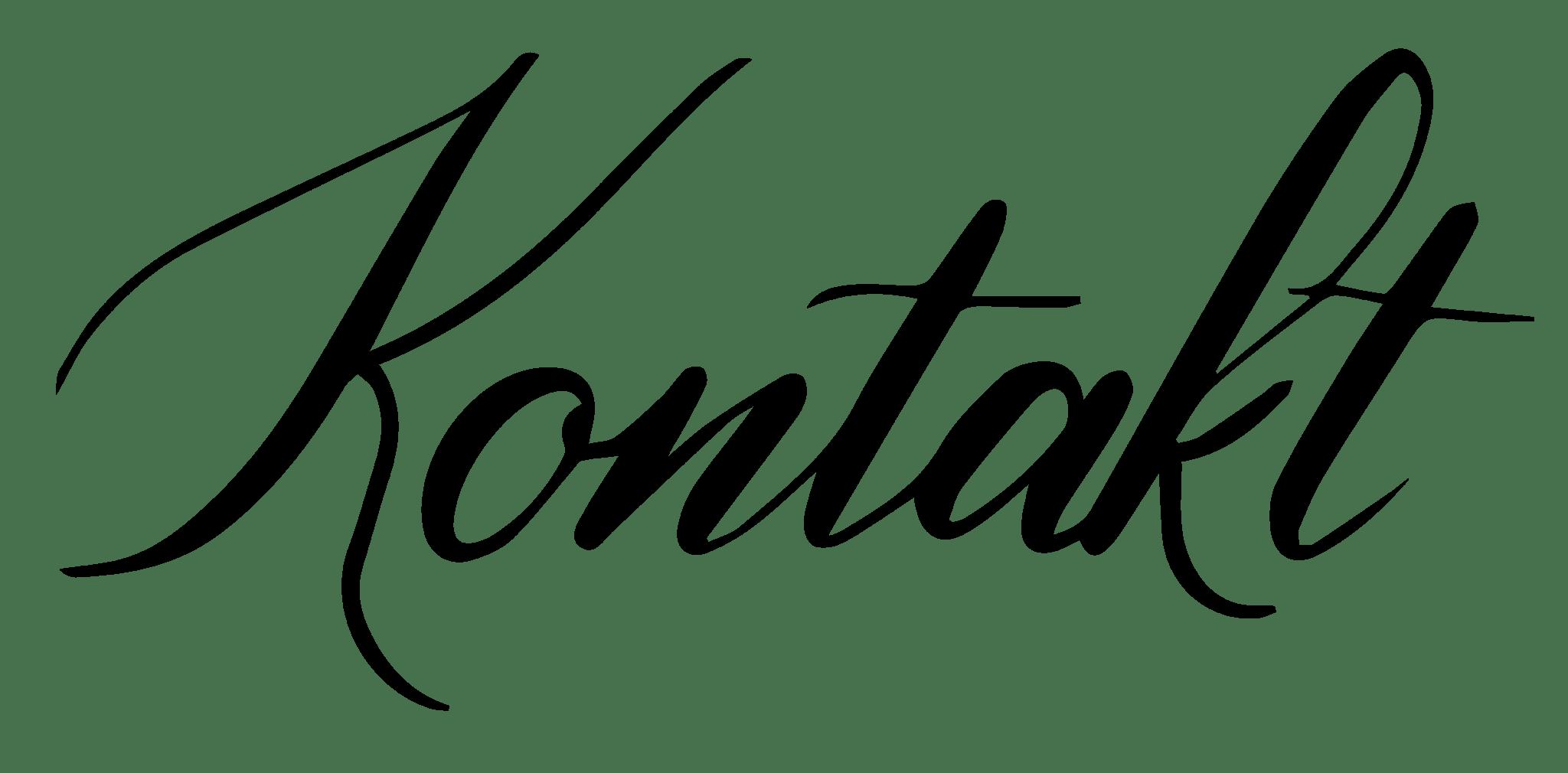 Tytuł kaligrafia Kontakt