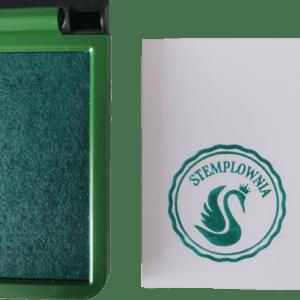 Poduszka do stempli w kolorze zielonym