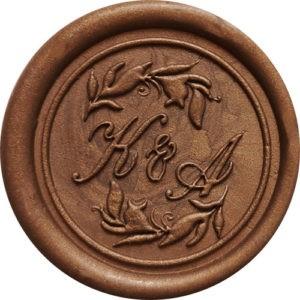 Pieczęć lakowa monogram – PIÓRKA