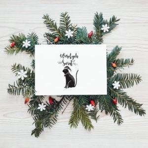 KOT - Stempel bożonarodzeniowy miniatura