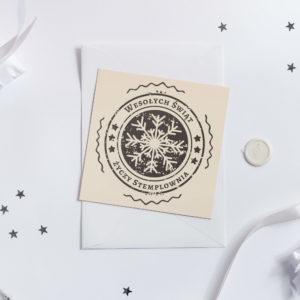 Płatek Śniegu - Stempel Bożonarodzeniowy miniatura